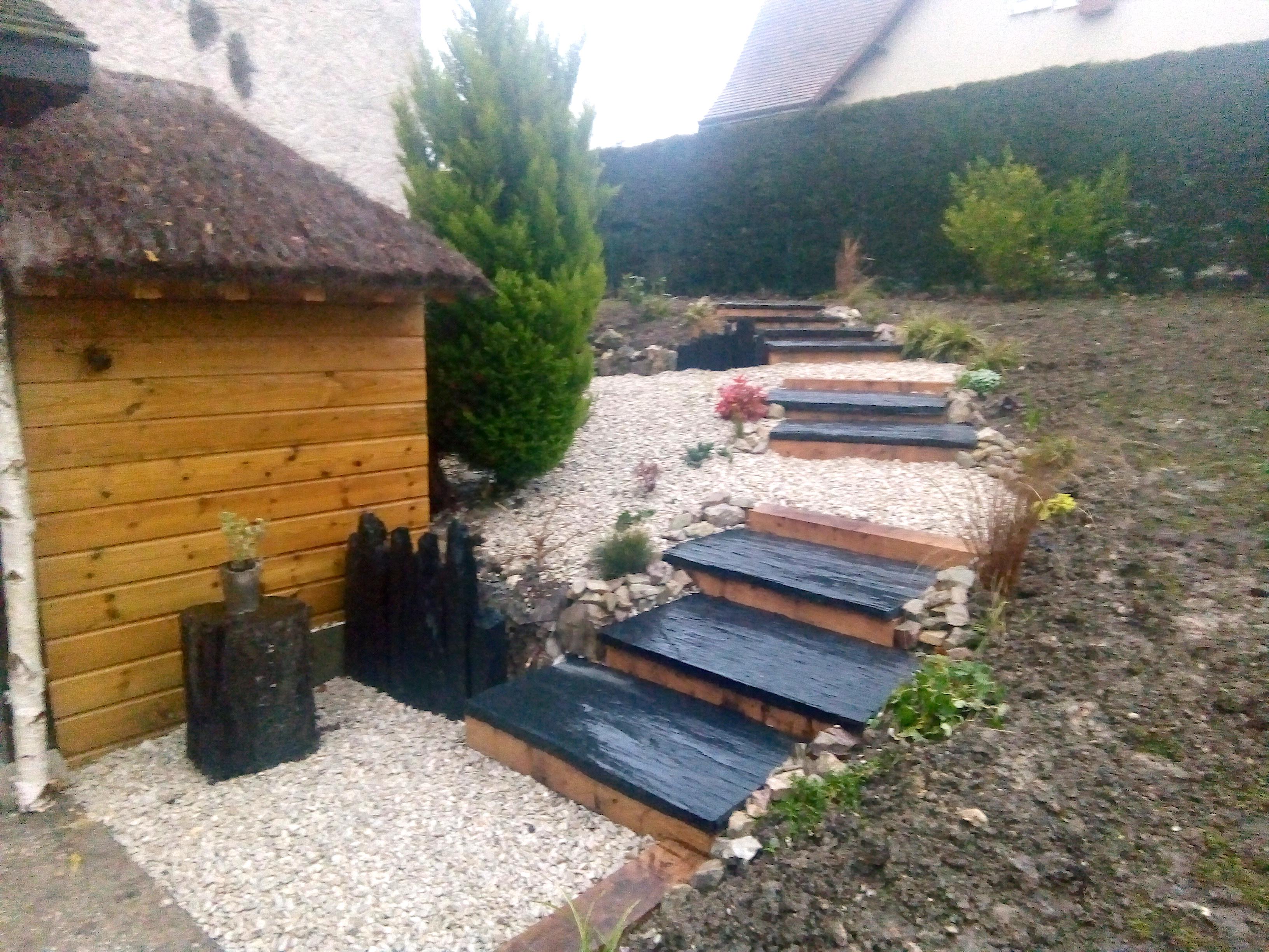 Création d\'un escalier en pierre naturelle à fondettes (37 ...