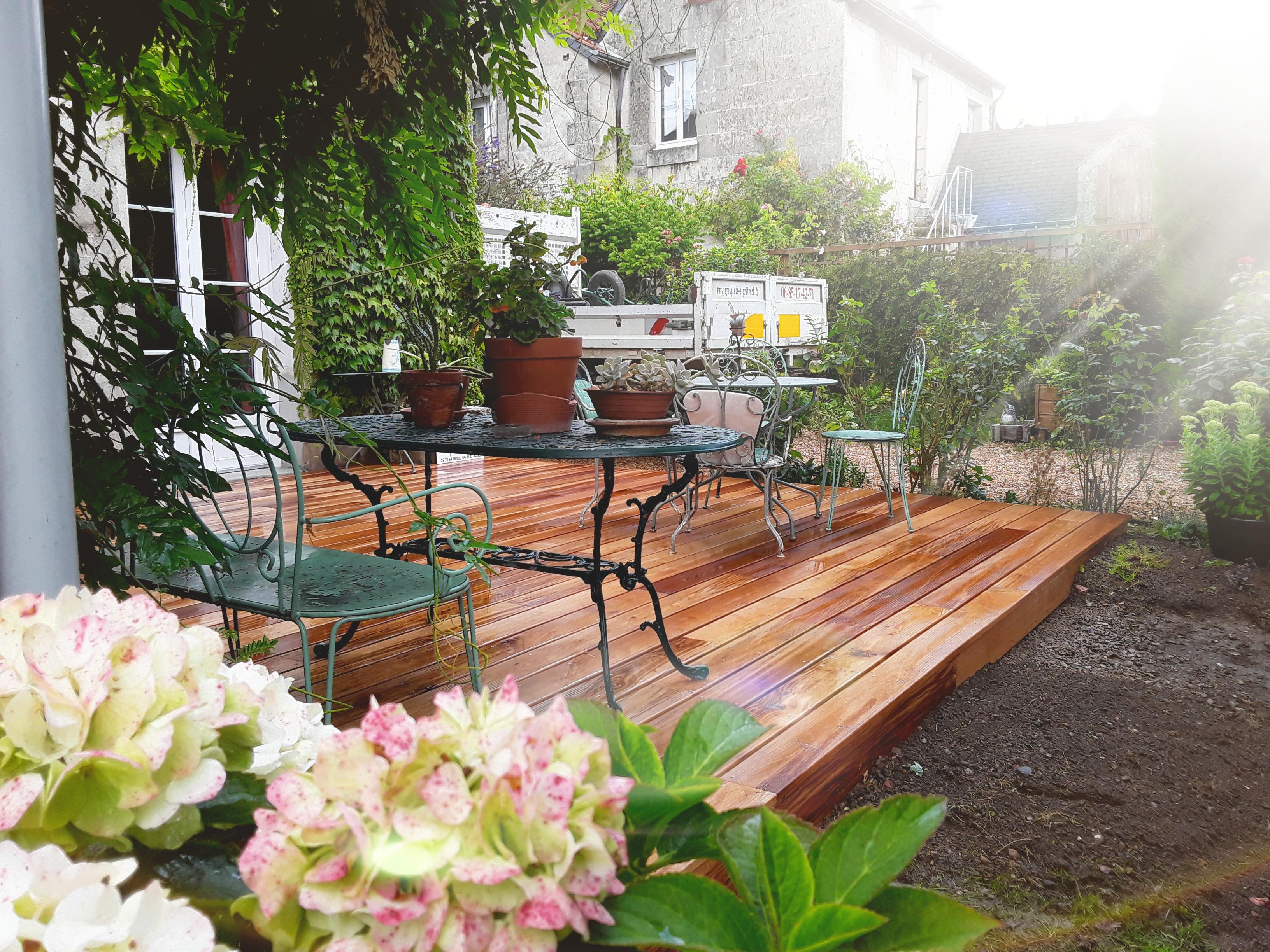 Paysagiste Indre Et Loire création d'une terrasse en indre et loire 37 - esprit vert